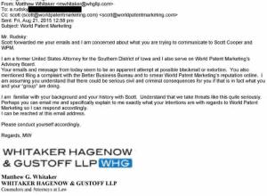 Whitaker on Patent Marketing